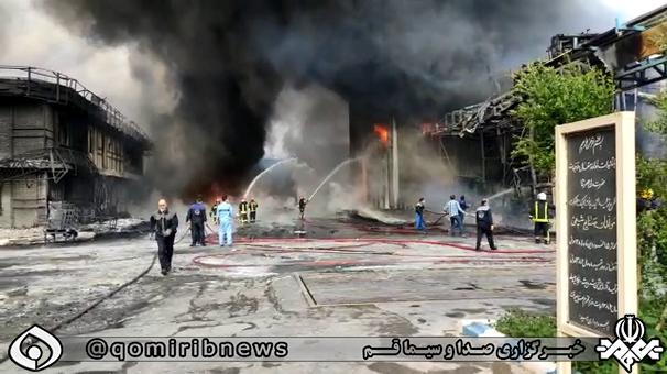 انتقال ۲ مصدوم حادثه شهرک شکوهیه قم به مراکز درمانی