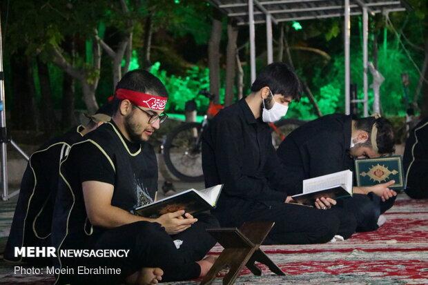 عکس/ احیا شب نوزدهم رمضان در مزار شهدای گمنام دانشگاه رازی کرمانشاه