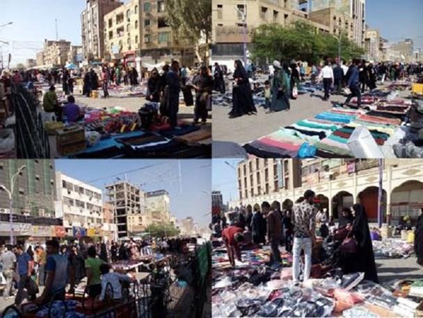 جابهجایی دستفروشان مرکز شهر اهواز فعلا منتفی است