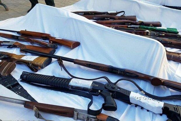 کشف ۲۳ قبضه سلاح غیر مجاز در دهلران