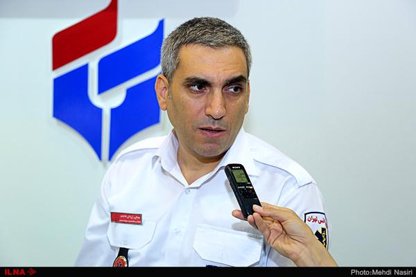 مصدومیت ۲ تهرانی در اثر وزش شدید باد