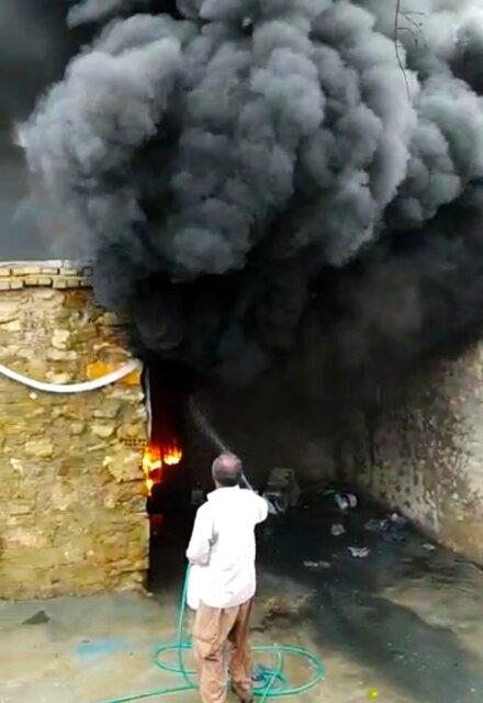 سوختن منزل مسکونی بر اثر صاعقه در مارگون
