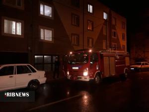 انفجار و حریق یک واحد مسکونی در بیرجند
