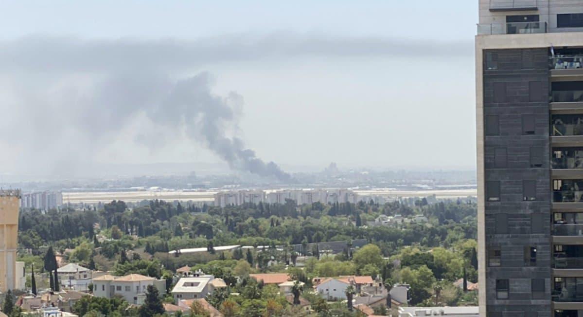 آتشسوزی گسترده این بار نزدیک «بن گوریون»