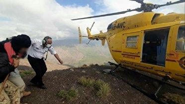 نجات فرد سرمازده از ارتفاعات طالقان