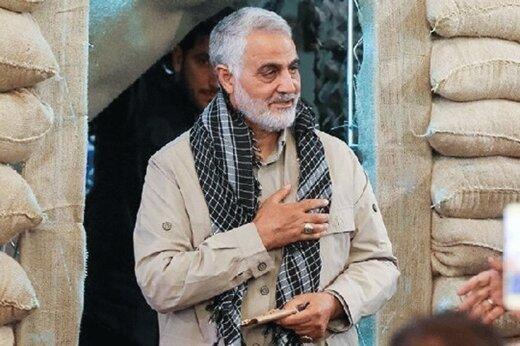 تصویر ویژه سایت رهبر انقلاب از سردار سلیمانی