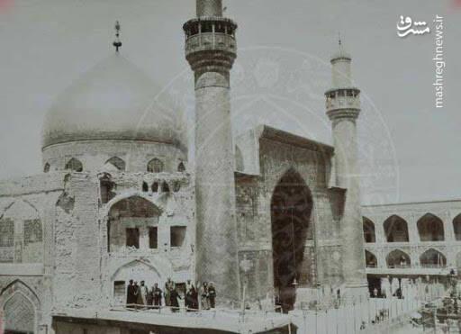 تصویری قدیمی از ایوان نجف
