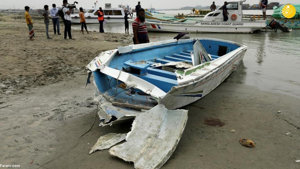 تصادف مرگبار قایق با کشتی باری در بنگلادش