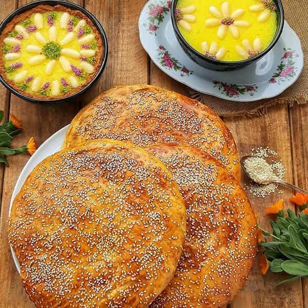 طرز تهیه نان آچما ارده خوشمزه و سالم برای افطاری و سحری