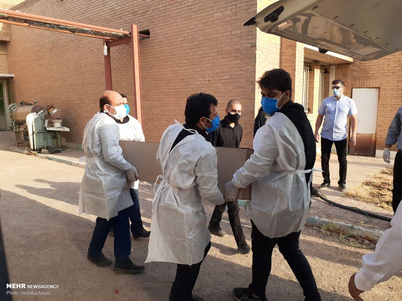 تصویری ناگوار از تشییع دومین شهید مدافع سلامت در دهلران