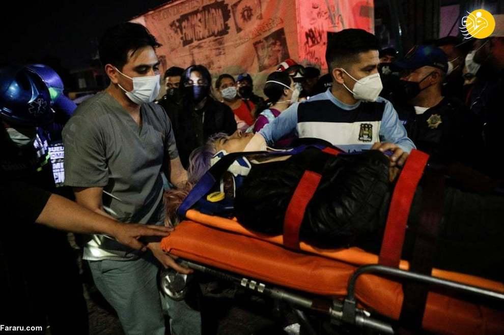 تصاویر زخمی ها بر اثر سقوط مترو در مکزیک