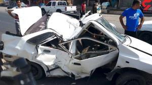 جان باختن یک مادر و کودک در آتشسوزی خودروی پراید