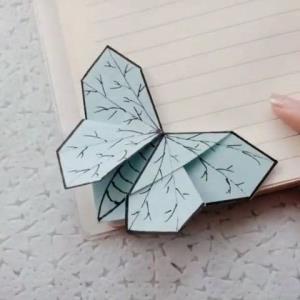 اوریگامی بوک مارک پروانه ای