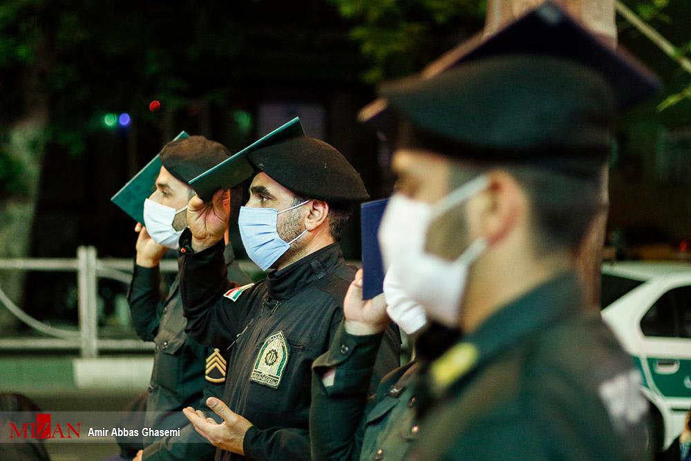 مراسم احیاء شب بیست و سوم در کنار ماموران پلیس پیشگیری