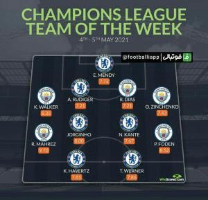 تیم منتخب هفته لیگ قهرمانان اروپا از نگاه هواسکورد