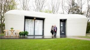 مستاجران خانه بتنی ساخته شده با چاپگر سه بعدی