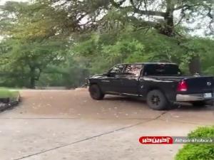 بارش تگرگ های 5 سانتی در ایالت فلوریدا