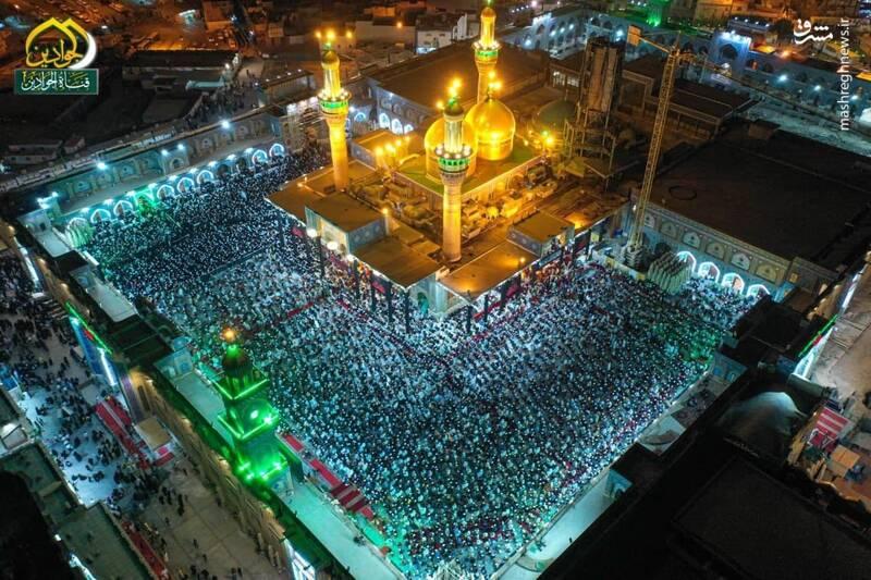 تصویری زیبا در شب قدر از حرم مطهر امامین کاظمین