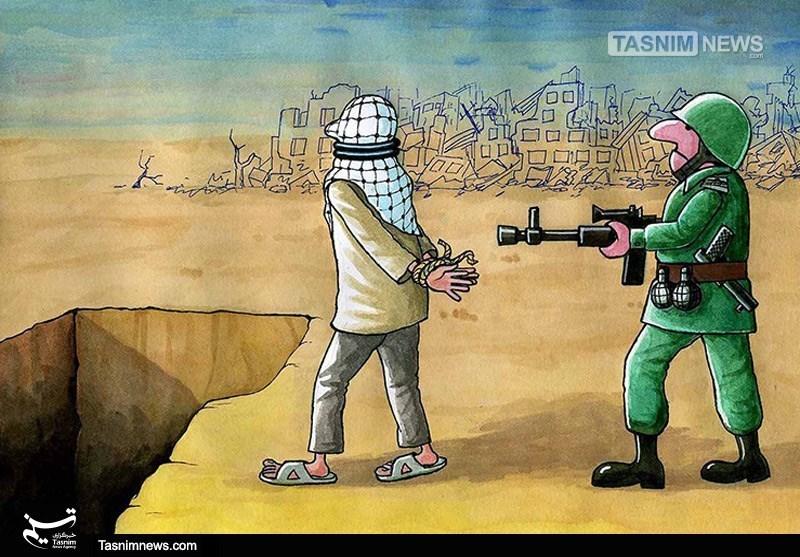 کاریکاتور/ رژیم آدمکش صهیونیستی