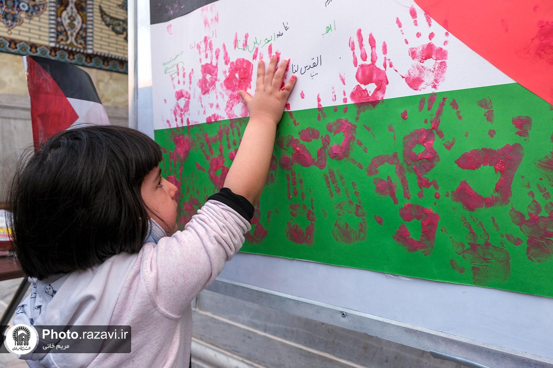 عکس/ مراسم بزرگداشت روز جهانی قدس در حرم مطهر رضوی