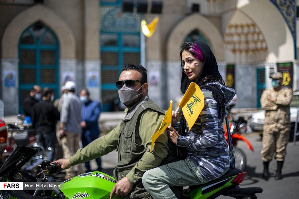 عکس/ روز قدس و حضور تهرانی ها در میدان فلسطین