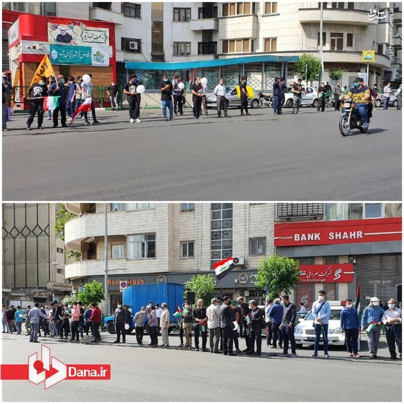 تجمع خودجوش جوانان پایتخت در روز قدس