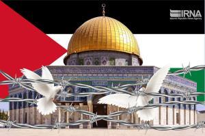 تاکید فلسطینیان بر آزادسازی کل سرزمینهای اشغالی در مراسم روز قدس