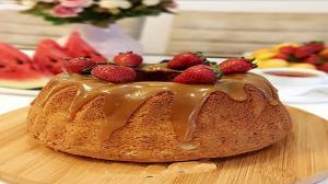 طرز تهیه کیک پنیری با سس کاراملی؛ خوشمزه و خاص