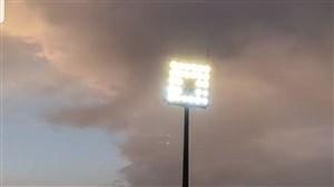 پروژکتورهای ورزشگاه اراک روشن شد!