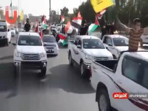 راهپیمایی خودرویی به مناسبت روز قدس در عراق