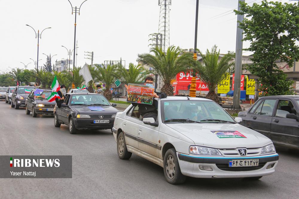 عکس/ راهپیمایی خودرویی روز قدس در مازندران