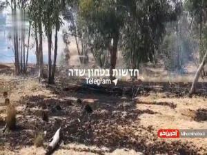آتش سوزی بر اثر بالونهای آتشزای جوانان فلسطینی نزدیک غزه