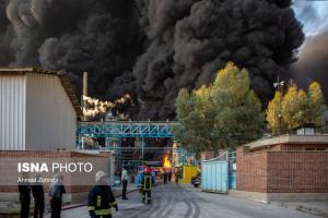 خبر خوش مدیرکارخانه آتش گرفته قم به کارکنانش