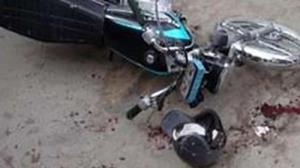 تصادف دردناک موتور سوار با خودرو