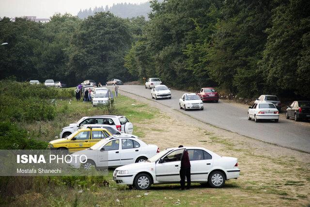 زرد شدن ۳ شهرستان گیلان؛ جریمه مسافران در ورودیهای فرعی