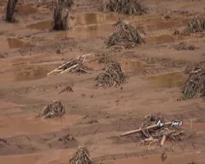 تخریب باغهای بنه کوه گرمسار بر اثر سیلاب