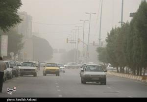 جولان گردوغبار در هوای بهاری کرمان به روایت تصویر