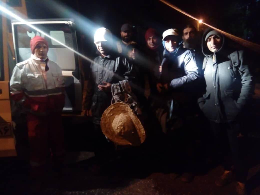 نجات گردشگران مفقود در منطقه اوپرت مهدیشهر