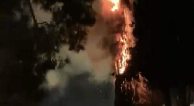وقوع آتشسوزی مهیب در صحن مسجد الاقصی
