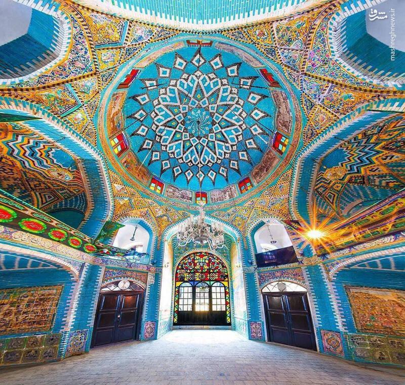 معماری زیبای تکیه معاون الملک