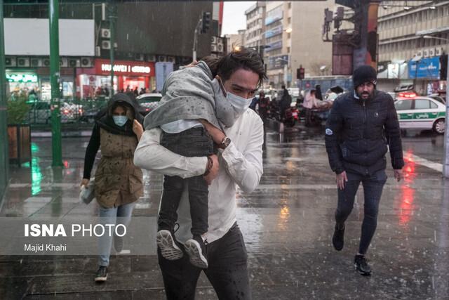 هشدار هواشناسی نسبت به وقوع رگبار در ۲۰ استان