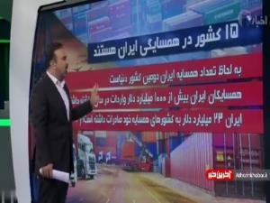 سهم اندک ایران از صادرات به 15 کشور همسایه