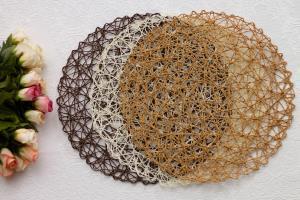 ایده خلاقانه ساخت زیر بشقابی زیبا با چسب حرارتی