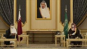 دیدار امیر قطر با ولیعهد عربستان در جده