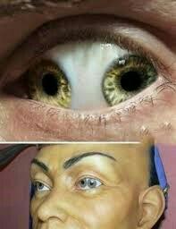 چشم عجیب مردمک دوتایی