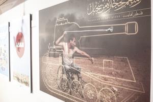 نمایشگاه کارتون، کاریکاتور و پوستر «فلسطین تنها نیست» در تهران