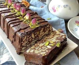 «دسر بیسکوییتی شکلاتی» بسیار ساده و خوشمزه برای افطاری