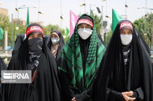 تجمع همدانیها در حمایت از مردم مظلوم فلسطین و افغانستان