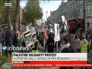 برگزاری تظاهرات در نیویورک و لندن در حمایت از فلسطین