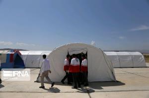 افتتاح بیمارستان صحرایی جمعیت هلال احمر خراسان شمالی
